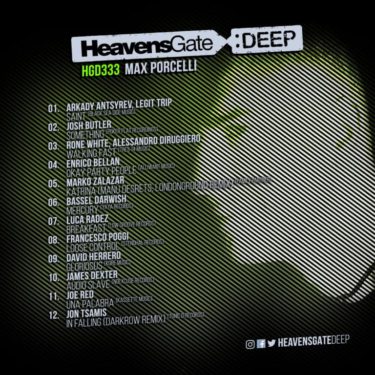 HeavensGateDeep EP333- Dec 2018 – Max Porcelli Minimal Deep Tech Mix