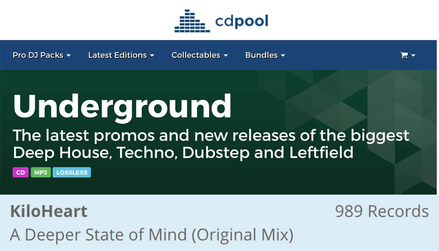 KiloHeart A Deeper State of Mind CD Pool Underground Disc July 2021 Edition